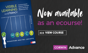 Visible Learning for Literacy - Now available as an ecourse