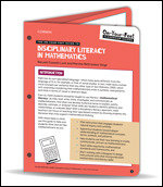 The On-Your-Feet Guide to Disciplinary Literacy in Mathematics