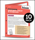 BUNDLE: Lent: The On-Your-Feet Guide to Disciplinary Literacy in Math: 10 Pack